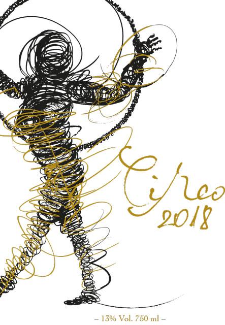 Etikett Patenwein Mallorca Wein Circo 2018 Ernte 2017 Circo 2018