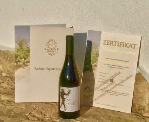 weinpatenschaft mallorca weinzertifikat weinflasche Rotwein Circo 2018